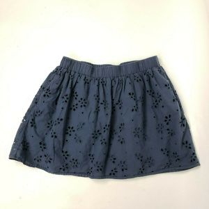 C&C California Blue Eyelet Skirt Large